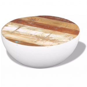 Bowl Shaped Coffee Table Solid Reclaimed Wood 60x60x30 cm