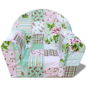 Kids' Armchair Flower Pattern