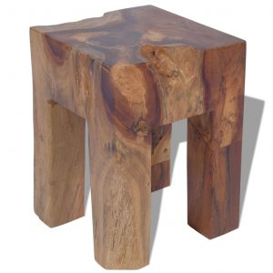 vidaXL Stool Solid Teak Wood