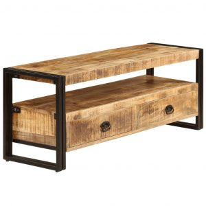TV Cabinet 120x35x45 cm Solid Mango Wood