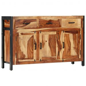 vidaXL Sideboard 110x35x75 cm Solid Sheesham Wood