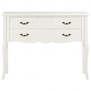 Sideboard 110x30x85 cm White Solid Wood