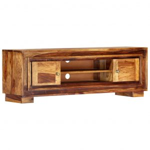 vidaXL TV Cabinet 118x30x40 cm Solid Sheesham Wood