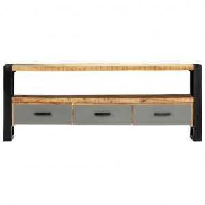 TV Cabinet 130x30x50 cm Solid Mango Wood
