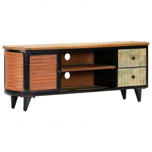 vidaXL TV Cabinet 120x30x45 cm Solid Reclaimed Wood