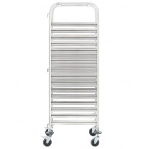 Kitchen Trolley for 16 Trays 65.5×48.5×165 cm Stainless Steel