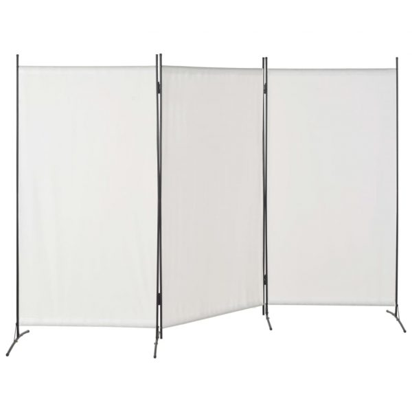 280267  3-Panel Room Divider White 260×180 cm