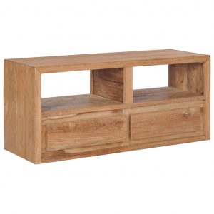 vidaXL TV Cabinet 90x30x40 cm Solid Teak Wood