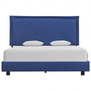 Bed Frame Blue Fabric Queen