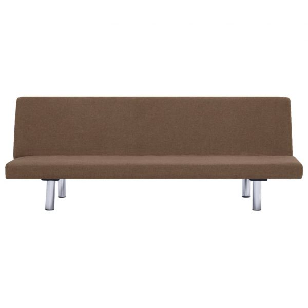 Sofa Bed Brown Polyester
