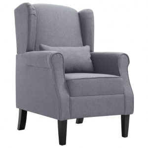 vidaXL Armchair Dark Grey Fabric