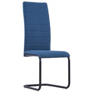 Dining Chairs 2 pcs Blue Fabric