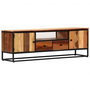 vidaXL TV Cabinet 120x30x40 cm Solid Reclaimed Wood and Steel