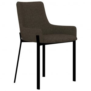 Dining Chairs 2 pcs Brown Fabric