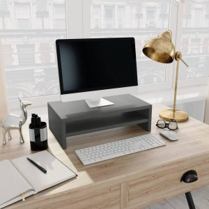 vidaXL Monitor Stand Grey 42x24x13 cm Chipboard