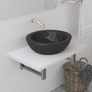 vidaXL Bathroom Wall Shelf for Basin White 60x40x16.3 cm