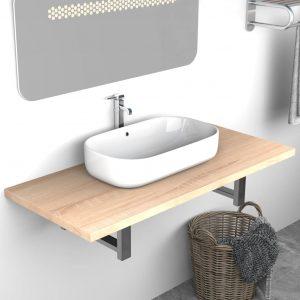 vidaXL Bathroom Furniture Oak 90x40x16.3 cm