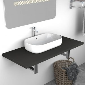 vidaXL Bathroom Furniture Grey 90x40x16.3 cm