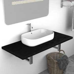 vidaXL Bathroom Furniture Black 90x40x16.3 cm