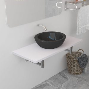 vidaXL Bathroom Furniture White 90x40x16.3 cm