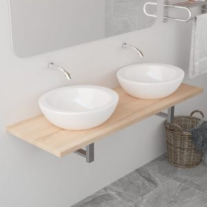 vidaXL Bathroom Furniture Oak 120x40x16.3 cm