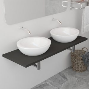 vidaXL Bathroom Furniture Grey 120x40x16.3 cm