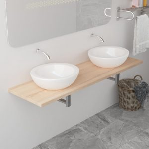 vidaXL Bathroom Furniture Oak 160x40x16.3 cm