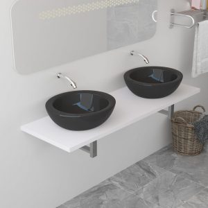 vidaXL Bathroom Furniture White 160x40x16.3 cm