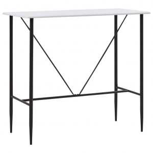 vidaXL Bar Table White 120x60x110 cm MDF