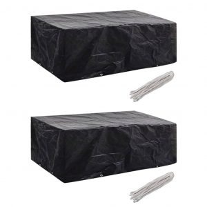 vidaXL Garden Furniture Covers 2 pcs 8 Eyelets 200x160x70 cm