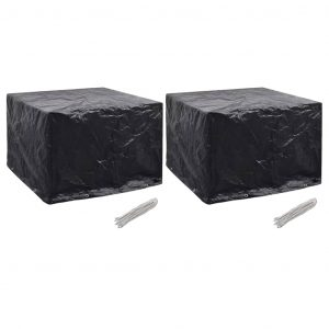 vidaXL Garden Furniture Covers 2 pcs 8 Eyelets 122x112x98 cm