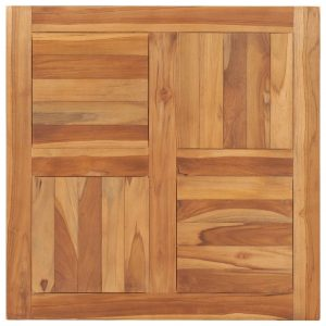 vidaXL Table Top Solid Teak Wood 70x70x2.5 cm