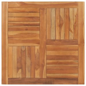 vidaXL Table Top Solid Teak Wood Square 90x90x2.5 cm