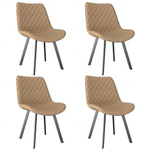 vidaXL Dining Chairs 4 pcs Cream Faux Leather