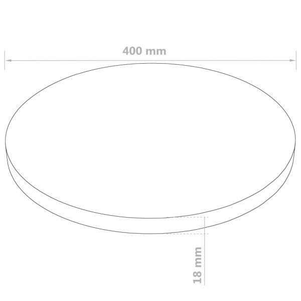 Table Top Round MDF 400×18 mm