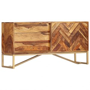 vidaXL Sideboard 118x30x60 cm Solid Sheesham Wood