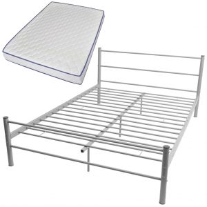 vidaXL Bed Frame with Memory Foam Mattress Double Size