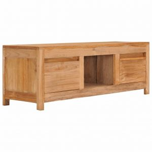 vidaXL TV Cabinet 100x30x35 cm Solid Teak Wood
