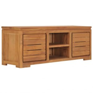 vidaXL TV Cabinet 110x30x40 cm Solid Teak Wood