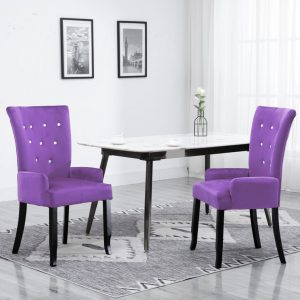 vidaXL Armchair Purple Velvet
