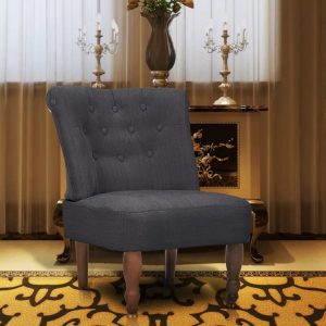 vidaXL French Chair Grey Fabric