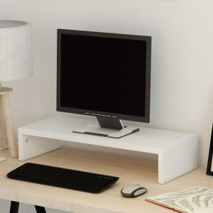 vidaXL Monitor Stand Chipboard 60×23.5×12 cm White