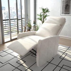 vidaXL TV Recliner Chair White Faux Leather