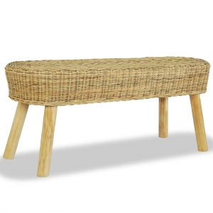 vidaXL Hall Bench 110x35x45 cm Natural Rattan