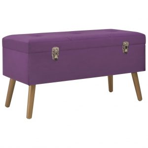vidaXL Bench with Storage Compartment 80 cm Purple Velvet