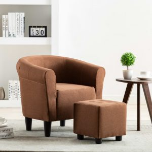 vidaXL Armchair Brown Fabric