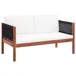 vidaXL Garden Sofa 2-Seater Solid Acacia Wood