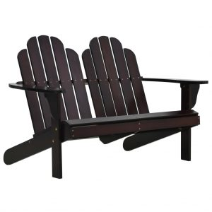 vidaXL Double Adirondack Chair Wood Brown