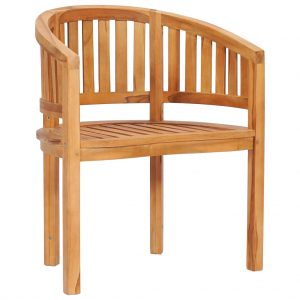vidaXL Banana Chair Solid Teak Wood