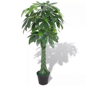 vidaXL Artificial Fortune Tree Plant with Pot 145 cm Green